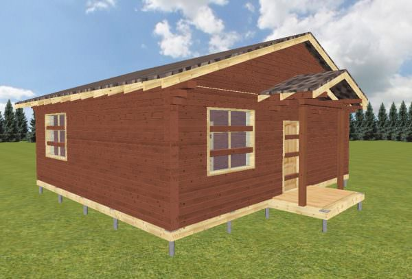 fasad 1 7 600x407 - Проект дома 8х9 из профилированного бруса 200х150 и 150х150 цена