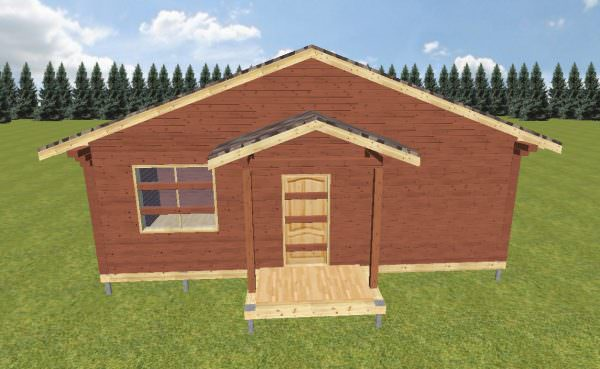 fasad 2 4 600x369 - Проект дома 8х9 из профилированного бруса 200х150 и 150х150 цена