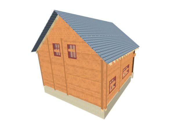 fasad 3 01 600x440 - Проект дома из профилированного бруса 8,5x10м