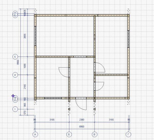 plan 600x543 - Проект дома 8х9 из профилированного бруса 200х150 и 150х150 цена