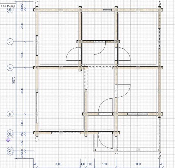 plan iz programmy 600x574 - Проект дома 9х9 из профилированного бруса 180х180 цена