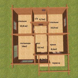 planirovka podpisannaya 300x300 - Проект дома 9х9 из профилированного бруса 180х180 цена