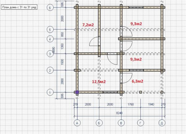 shema 2 etazh 600x432 - Дом 7,7х7,7 из профилированного бруса 200х150
