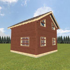 vid4 1 300x300 - Дом 6х6 из профилированного бруса 200х150 и 150х150
